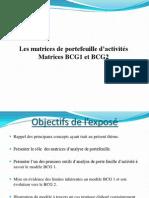 Les matrices de portefeuille d'activités Matrices BCG1 & BCG2