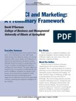 CI and Marketing - A Preliminary Framework