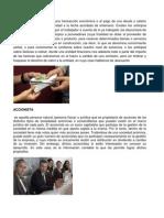 ANTICIPO, Accionista, Caja Chica, Capital, Credito, Depresiacion, Acreedores, Pagare, Impuesto, Flete