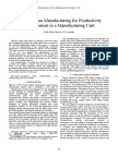 Areas of Lean Manufacturing for Productivity Improvement in a Manufacturing Unit