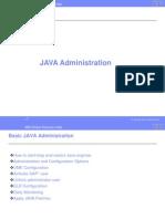 Basic JAVA Administration_2[1].0 for sap basis