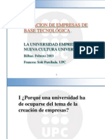 Francesc Sole Parellada - La Universidad Emprendedora. Nueva Cultura en La Universidad