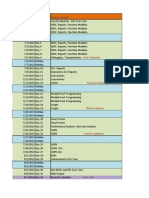 Standard ABAP Training Schedule