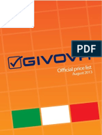 Givova Official Price List