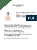 Workshop Safety Rules
