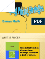 Developing Pricing Strategies