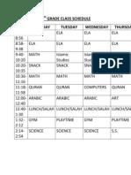 2013-2014 class schedule