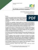 A avaliação de impactos ambientais no processo de licenciamento ambiental em atividade de extração de areia considerando os serviços ecossistêmicos