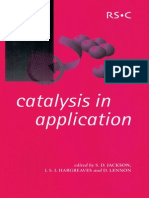 (Special Publication) S.D. Jackson, J.S.J. Hargreaves, D. Lennon-Catalysis in Application_ [Proceedings of the International Symposium on Applied Catalysis to Be Held at the University of Glasgow on 1