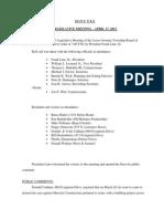 Lower Swatara Twp. April 17, 2013 Legislative Meeting Minutes