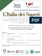 XIII Settimana della Lingua italiana nel mondo. Oct. 14-20 Detroit