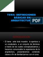 Arquitectura Definiciones Basicas Clase 1