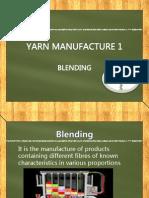 blending of fibres