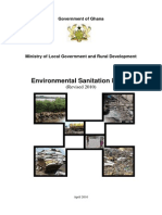 Ghana 2010 Environmental Sanitation Policy Ministry of Local Government and Rural Development