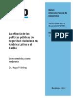4. La Eficacia de Las Politicas Publicas de Seguridad Ciudadana en America Latina y El Caribe Hugo Fruhling