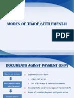 Week modes of settlement