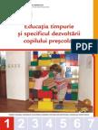 Modul 1_Educaţia timpurie şi specificul dezvoltării copilului preşcolar