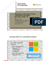 Microsoft and other IT companies - Case Study - from MS DOS to XBOX.  From 1975