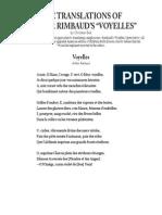 Bök. Ch. - Voyelles traducciones