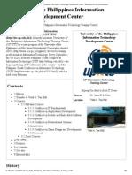 Training University of the Philippines Information Technology Development Center PDF
