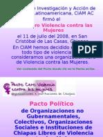 Presentación Pacto Cero Violencia contra las Mujeres