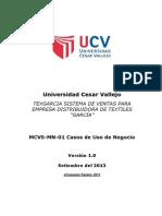 MCVS-MN-01 Casos de Uso de Negocio - Textiles Garcia