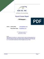 SAP Payroll Cluster Repair - Whitepaper V1.0