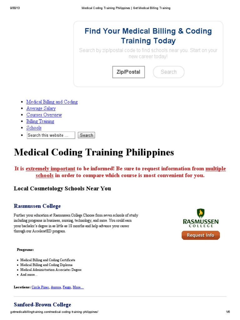 Training Medical Coding Training Philippines Get Medical Billing