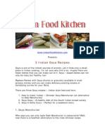 3 Indian Soya Recipes - Free PDF Download