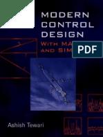 Modern Control Design With MATLAB and SIMULINK Tewari Tewari