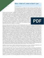 Terapia psicoanalítica derivadas del psicoanálisis.