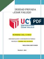 DEFORESTACIÓN Y CONVERSIÓN DE TIERRAS