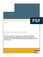SAP Social Media Participation Guidelines 2009
