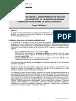 Instrucciones Precios Matricula GS 13 14
