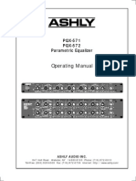 Operating Manual - PQX 571 and PQX 572 Parametric Equalizer