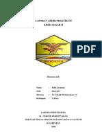 Laporan Kimia Dasar II