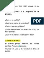 Predicacion Radio Profeta y Profecia (01)