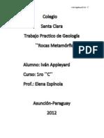Trabajo Practico de Geologia Rocas Metamorficas