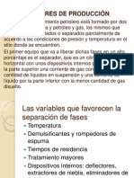 SEPARADORES DE PRODUCCIÓN I