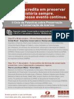 II Ciclo de Palestras sobre Preservação e Conservação de Acervos – 2ª rodada