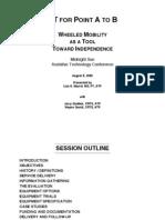 MSATC Wheeled Mobility 080509