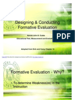 designing and conducting formative evaluation