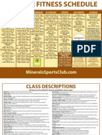Minerals Sports Club October Fitness Schedule