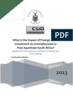 Impact of FDI on Unemployment in Post-Apartheid South Africa by Siyaduma Biniza.pdf