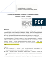 X Encuentro Universidades Formadoras Licenciados Idiomas - II Encuentro Nacional Lenguas 2014