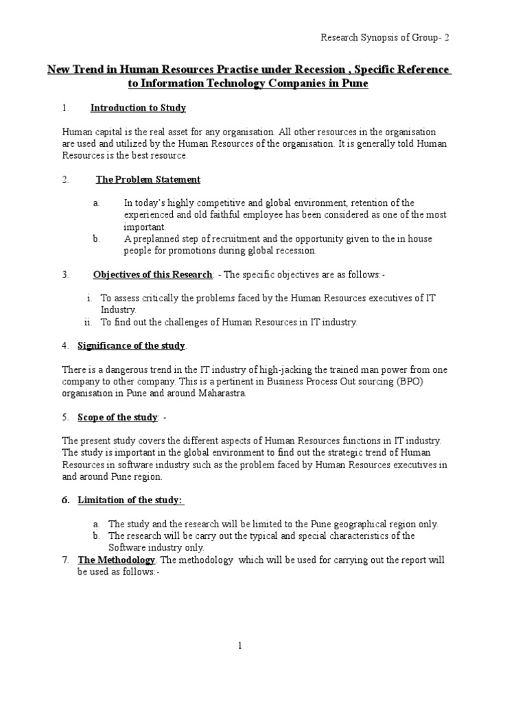 Synopsis format business science accmission Choice Image