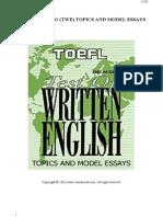 185 TOEFL Writing (TWE) Topics and Model Essays