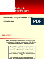Business Strategy in Pharmaceutical Industry