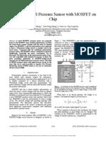 A Novel MEMS Pressure Sensor With MOSFET on Chip