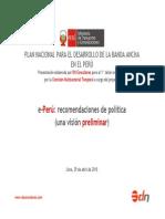 DN CONSULTORES e-Perú recomendaciones de política